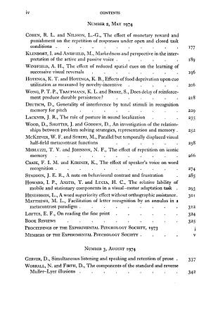 The Quarterly Journal of Experimental Psychology PDF
