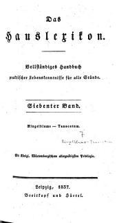Das Hauslexikon: vollständiges Handbuch praktischer Lebenskenntnisse für alle Stände. Ringelblume - Tanacetum, Band 7