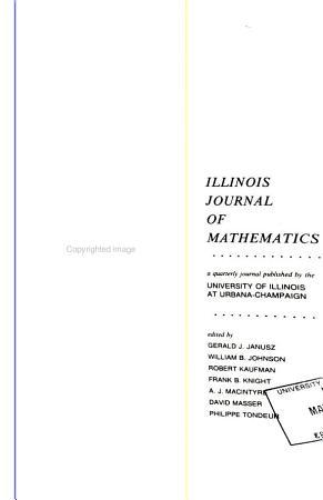 Illinois Journal of Mathematics PDF
