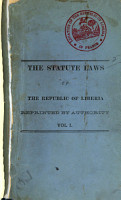 The Statute Laws of the Republic of Liberia Passed by the Legislature from 1848 to 1879 PDF