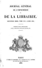 Journal général de l'imprimerie et de la librairie: Volume14,Numéros1à2