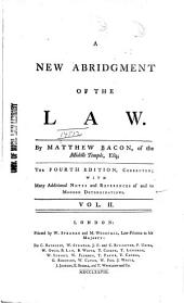 A New Abridgment of the Law: Volume 2