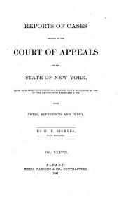 Reports of Cases Decided in the Court of Appeals of the State of New York: Volume 83