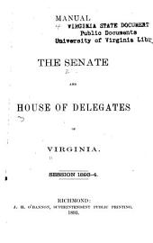 Manual of the Senate and House of Delegates