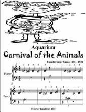Aquarium Carnival of the Animals - Beginner Piano Sheet Music Tadpole Edition