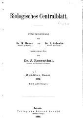 Biologisches Zentralblatt: Volume 12