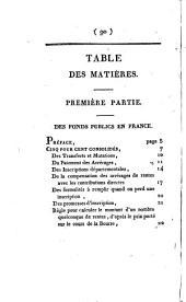 Des fonds publics en France: et des opérations de la Bourse de Paris ...