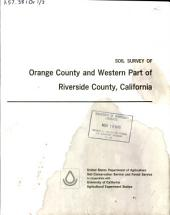 Soil survey of Orange County and western part of Riverside County, California