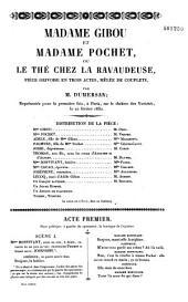Madame Gibou et Madame Pochet: pièce grivoise en trois actes, mêlée de couplets