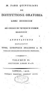 M. Fabii Quintiliani De institutione oratoria libri duodecim: Libros IV-VI