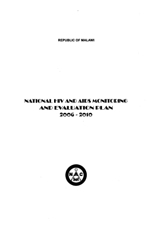National HIV and AIDS Monitoring and Evaluation Plan, 2006-2010