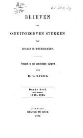 Brieven en onuitgegeven stukken van Johannes Wtenbogaert: Volume 1;Volume 3