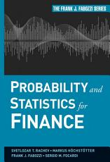 Probability and Statistics for Finance PDF