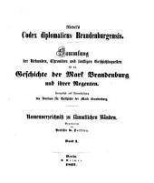 Codex diplomaticus Brandenburgensis, herausg. von A.F. Riedel: Volume 1