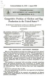 Competitive position of chicken and egg production in the United States
