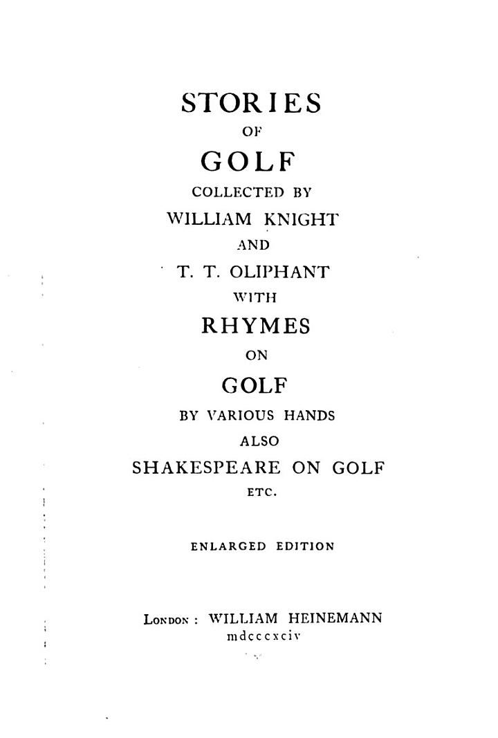 Stories of Golf