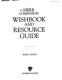 The Herb Companion Wishbook and Resource Guide PDF