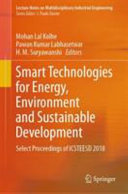 Smart Technologies for Energy  Environment and Sustainable Development PDF