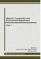 Materials  Transportation and Environmental Engineering II PDF