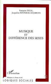 MUSIQUE ET DIFFERENCE DES SEXES