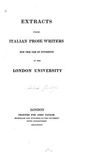 Extracts from Italian Prose Writers