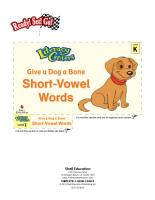 Short Vowel Words  Give a Dog a Bone Literacy Center PDF