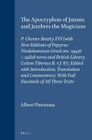 The Apocryphon of Jannes and Jambres the magicians PDF