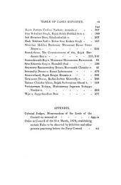 Reports of Cases Heard and Determined by the Judicial Committee and the Lords of His Majesty's Most Honourable Privy Council: On Appeal from the ... Courts ... in the East Indies