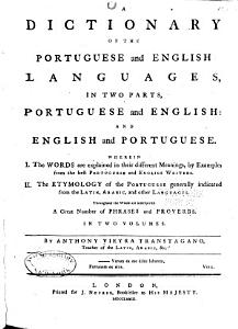 A Dictionary of the Portuguese and English Languages  in Two Parts  PDF
