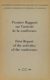 First Report of the activities of the conference 1954