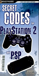Secret Codes for PlayStation 2 and PSP.