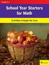 School Year Starters for Math: Activities to Begin the Year