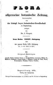 Flora oder allgemeine botanische Zeitung: Band 59