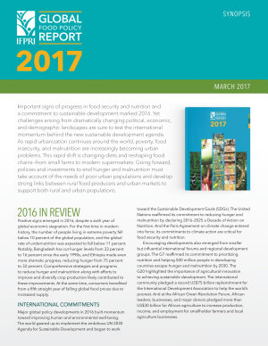 2017 Global Food Policy Report Synopsis In Russian