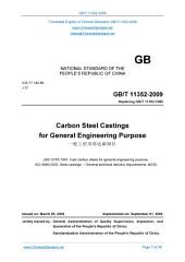 GB/T 11352-2009: Translated English of Chinese Standard. (GBT 11352-2009, GB/T11352-2009, GBT11352-2009): Carbon steel castings for general engineering purpose.