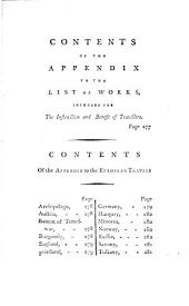 An Essay to Direct and Extend the Inquiries of Patriotic Travellers: With Further Observations on the Means of Preserving the Life, Health, & Property of the Unexperienced in Their Journies by Land and Sea ... To which is Annexed a List of English and Foreign Works, Intended for the Instruction and Benefit of Travellers, & a Catalogue of ... European Travels, which Have Been Publish'e in Different Languages from Earliest Times, Down to September, 8.th 1787, Volume 2