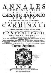 Annales Ecclesiastici Christo NATO Ad Ann. 1198, Una Cum Critica Historico-Chronologica P. Ant. Pagii...