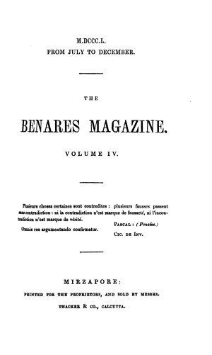 The Benares magazine