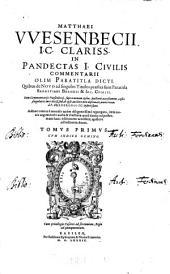 Tomvs Primvs cvm indice gemino: Volume 1