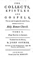 The collects  epistles and gospels  that are read throughout the whole year PDF