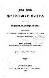 Fester Grund christlicher Lehre: Ein Hülfsbuch zum Heidelberger Katechismus