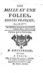 Les mille et une folies, contes français,
