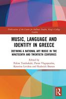Music  Language and Identity in Greece PDF