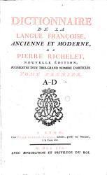 Dictionnaire de la langue fran  aise ancienne et moderne PDF
