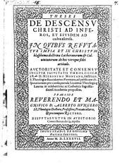 De descensu Christi ad inferos et eiusdem ad coelos ascensu
