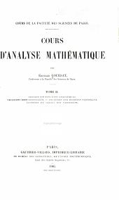 Cours d'analyse mathématique: Volume2