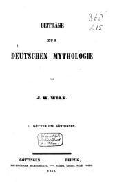 Beiträge zur deutschen Mythologie: Band 2