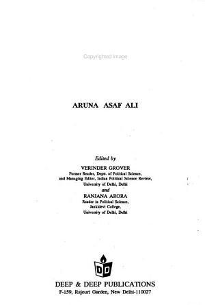 Great Women of Modern India  Aruna Asaf Ali PDF