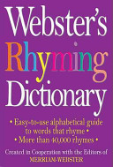 Webster s Rhyming Dictionary PDF