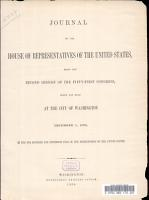 Journal of the House of Representatives of the United States  Being the Second Session of the Fifty first Congress  Begun and Held at the City of Washington December 1  1890 PDF